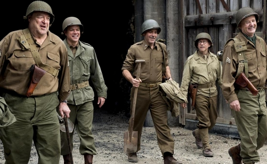 MonumentsMen-team Monuments Men - George Clooney