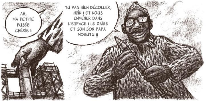 mobutu-dans-lespace-futuropolis-planche Mobutu dans l'espace - A. Ducoudray et  E. Vaccaro